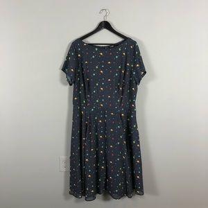eshakti space print miss frizzle dress